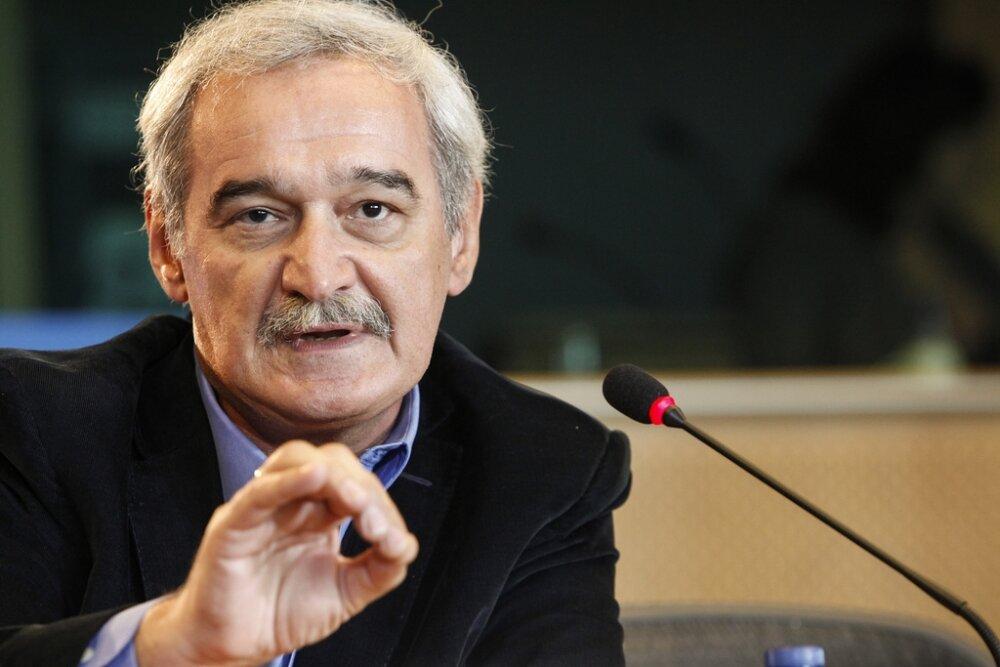 Ο ευρωβουλευτής της Λαϊκής Ενότητας (ΛΑΕ) Νίκος Χουντής στα Χανιά