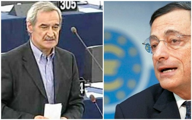 """Ντράγκι:""""Να συνεχίσει την αντιλαϊκή πολιτική στα κόκκινα δάνεια η ελληνική κυβέρνηση"""""""